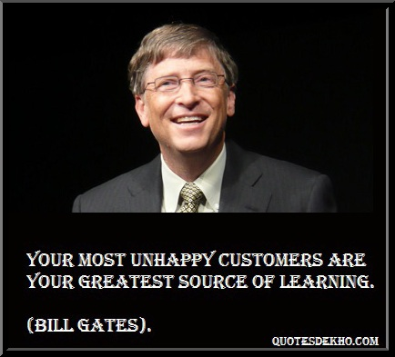 Bill Gates Learning Quote With Picture