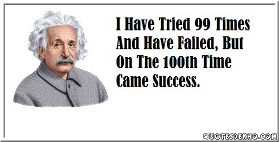 Albert Einstein Success Quote With His Picture
