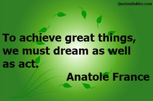 Achievement And Goal In Your Life Quote