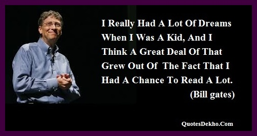 bill gates dream quotes facebook status picture
