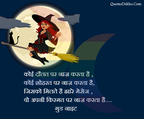Funny Good Night Status In Hindi