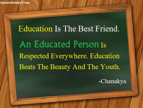 chanakya education quotes status