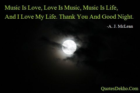 Good Night Love Music Quotes