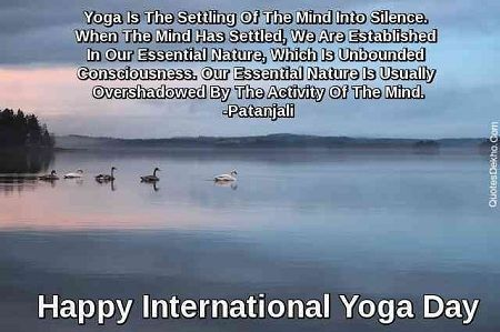 Most Popular Yoga Day Blessings, Greetings, SMS, Messages, Facebook Fb Status, Shayari, Thoughts.