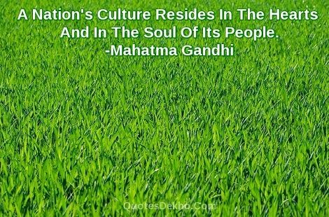 Mahatma Gandhi Nation Quotes