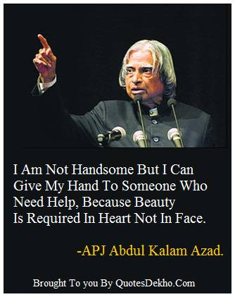 Abdul Kalam Beauty Quotes Status