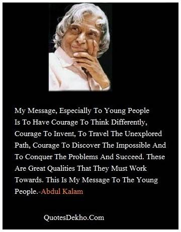 abdul kalam whatsapp quotes status for group