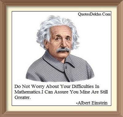 mathematics status for whatsapp Albert Einstein Quotes
