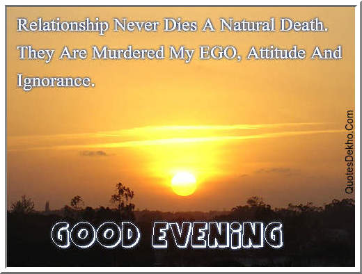 good evening facebook quotes status attitude