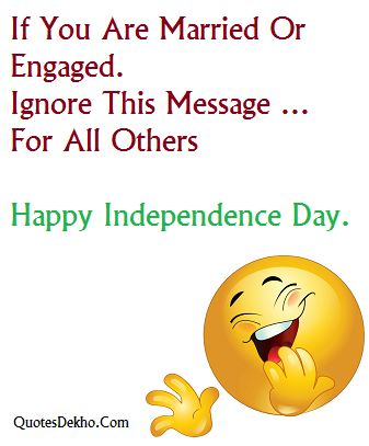 Funny Independence Day Status