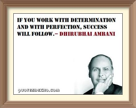 Dhirubhai Ambani Inspirational Success Picture