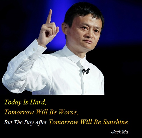 Jack Ma Famous Saying Image Whatsapp And Facebook