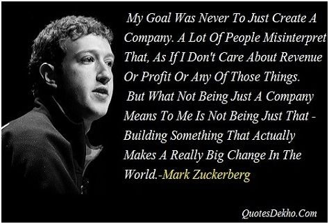 Facebook Inventor Mark Zuckerberg Quotes With Image For Whatsapp Share