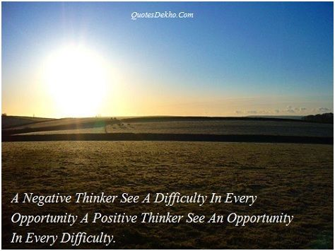 Positive Vs Negative Thinking Quotes