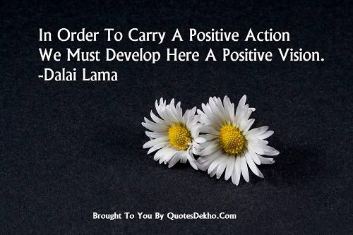 Dalai Lama Quotes On Positive Thoughts Image Wallpaper