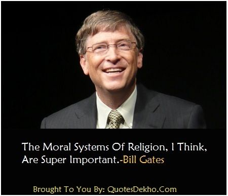 Bill Gates Quotes About Religion Image