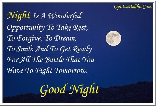 good night image facebook status quotes