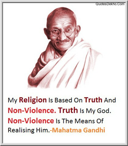 Mahatma Gandhi Quotes Wallpaper Religion Truth And Non-Violence