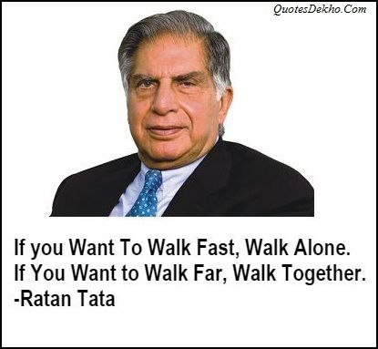 Ratan Tata Inspirational Quotes On Teamwork