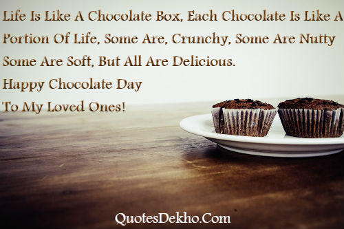 Happy Chocolate Day Status Sms