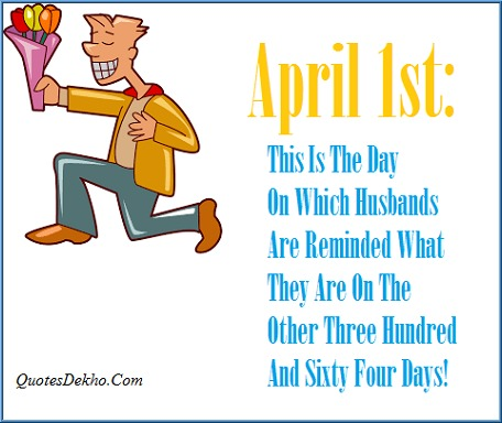 April Fools Day Joke Message Picture Husband And Wife