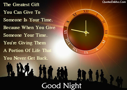 Good Night Quotes About All Time Picture