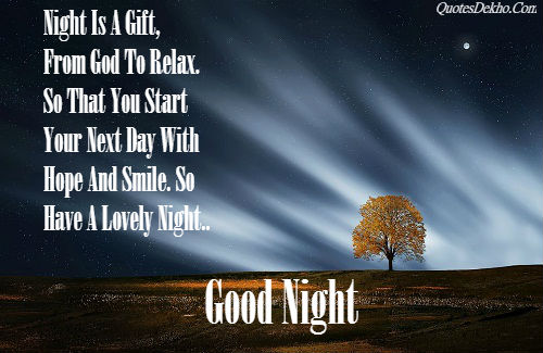 Good Night Quotes Sms About God With Image