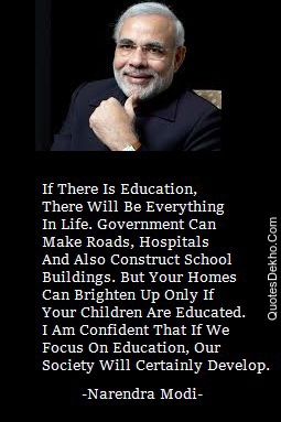Narendra Modi Quotes Picture Education And Students For Whatsapp Group Share