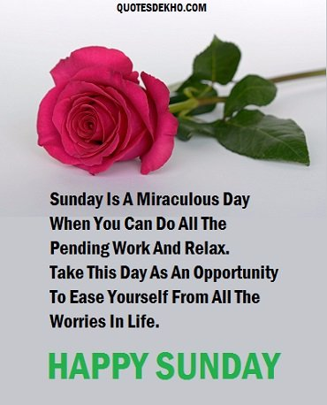 Sunday Wishes Quotes With Wallpaper