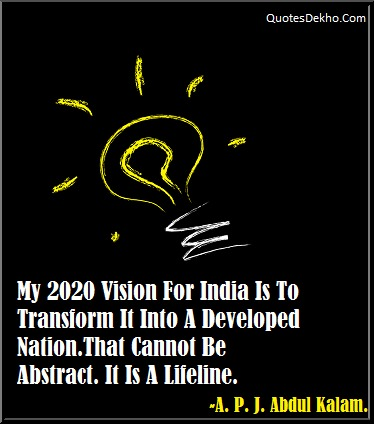 Abdul Kalam 2020 Vision Quotes Image Whatsapp And Facebook Share