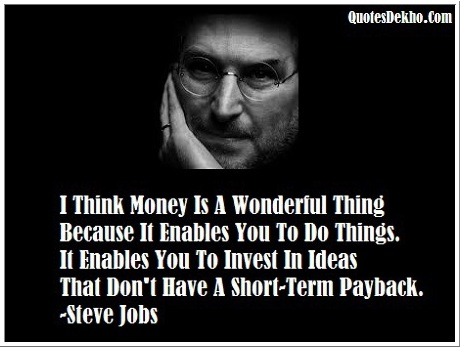Steve Jobs Quotes About Money And Ideas With Image