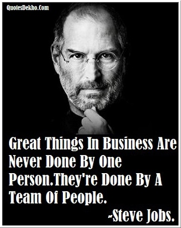 Steve Jobs Quotes Picture About Business Success