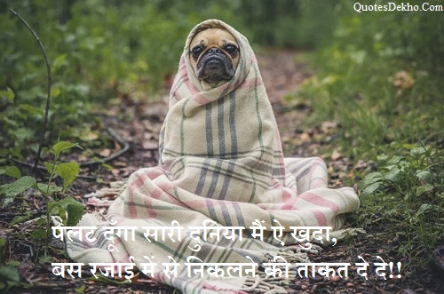 Funny Winter Shayari Jokes Image For FB